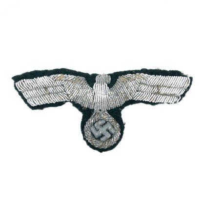 Original WWII German WH visor cap eagle in bullion