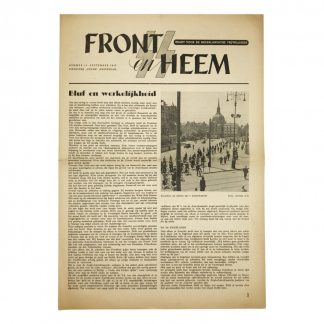 Original WWII Dutch Waffen-SS volunteer newspaper Front en Heem September 1943