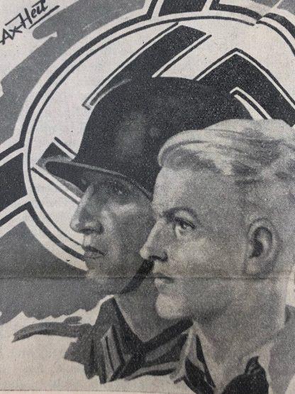 Original WWII Dutch Waffen-SS volunteer newspaper Front en Heem September 1943