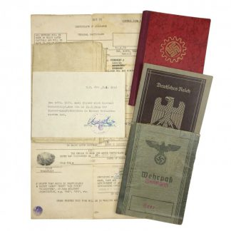 Original WWII German Wehrpass grouping – Feldwebel Rudi Fliess