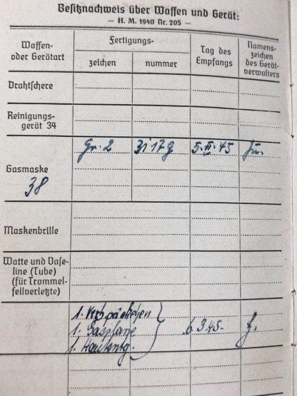 Original WWII German WH Soldbuch – Infanterie-Nachrichten-Erstaz-Kompanie 522 (Rostock)