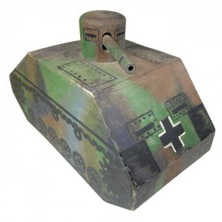Original WWII German camouflaged wooden toy tank