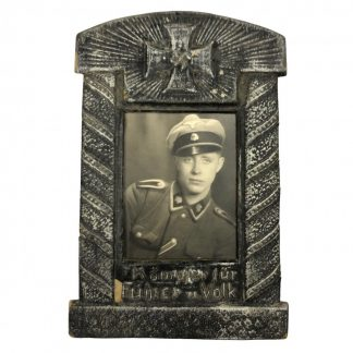 Original WWII German SS-Totenkopf portrait photo in carton frame