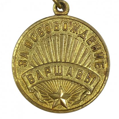 Original WWII Russian 'For Liberation of Warsaw' medal