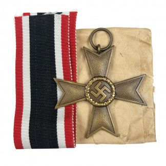 Original WWII German War merit Cross without swords – Deschler
