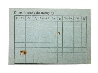 Original WWII German Volkssturm 'Vorläufliche Dienstausweis' – Gleisdorf in Austria