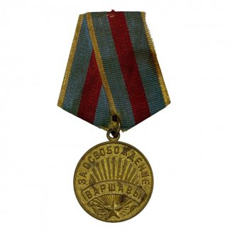 Original WWII Russian 'For the Liberation of Warsaw' medal