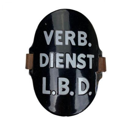 Original WWII Dutch 'Luchtbeschermingsdienst' arm shield Verbindings Dienst