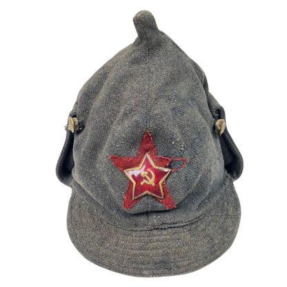 Original WWII Russian M19 NKVD Budenovka