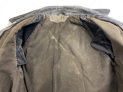Original WWII Russian leather overcoat for armored crew