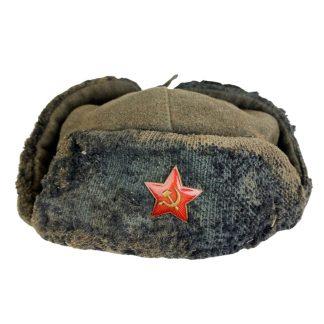 Original WWII Russian 'Uschanka' winter hat 1941