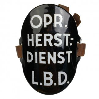 Original WWII Dutch 'Luchtbeschermingsdienst' arm shield Oproep Herstel Dienst