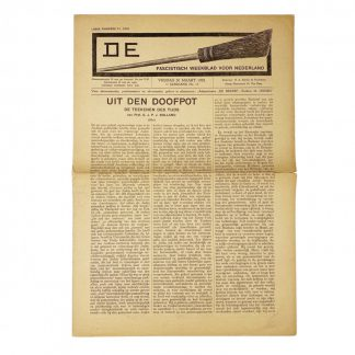 Original WWII Dutch fascists/collaboration newspaper - De Bezem