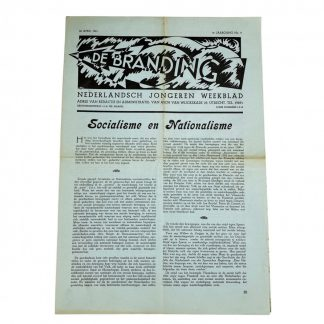 Original WWII Dutch youth collaboration newspaper – De Branding