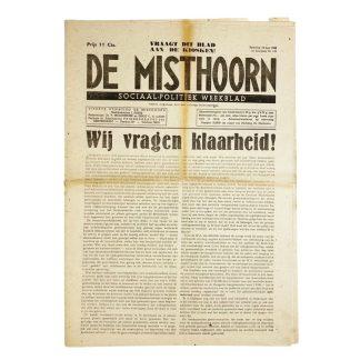 Original WWII Dutch collaboration newspaper – De Misthoorn