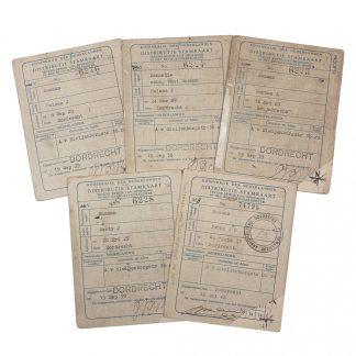 Original WWII Dutch 'Distributie Stamkaarten' Dordrecht set