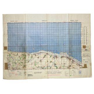 Original WWII British military map 'Normandy – Gold beach' 1943