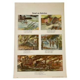 Original WWII German propaganda poster – Kampf um Rotterdam