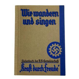 Original WWII German Kraft Durch Freude Liederbuch