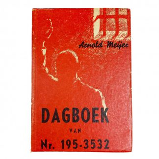 Original WWII Dutch collaboration book – Arnold Meijer Dagboek van Nr 195-3532