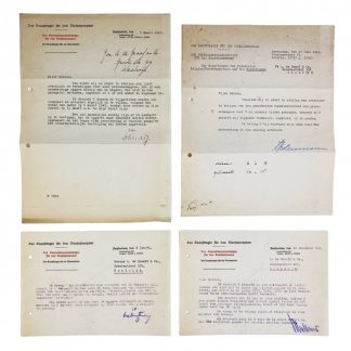 Original WWII German document set Waalwijk (Netherlands)