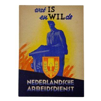 Original WWII Nederlandsche Arbeidsdienst booklet 'wat IS en Wil de NAD'