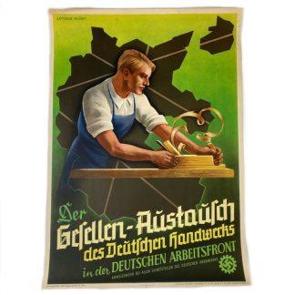 Original WWII German Deutsche Arbeitsfront poster