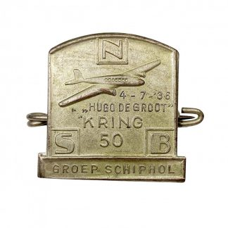 Original WWII Dutch NSB 'Kring Schiphol' pin
