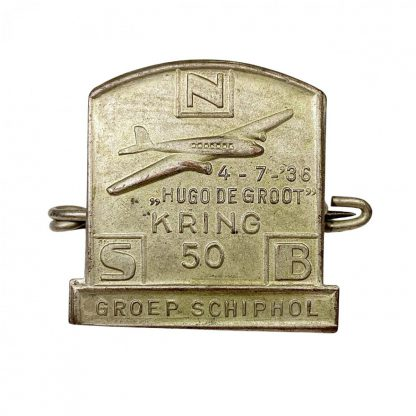 Original WWII Dutch NSB 'Kring Schiphol' pin