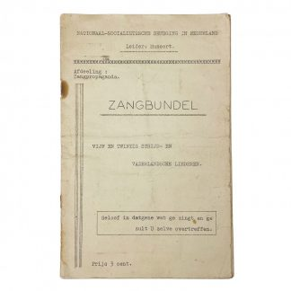 Original WWII Dutch NSB song booklet