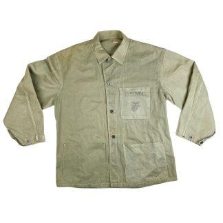 Original WWII USMC P41 HBT jacket