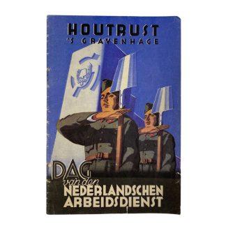 Original WWII Nederlandsche Arbeidsdienst booklet 'Houtrust 'S Gravenhage'