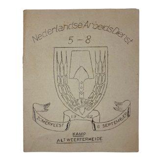 Original WWII Nederlandsche Arbeidsdienst booklet 'Kamp Altweerterheide'