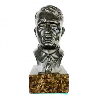 Original WWII German Adolf Hitler buste on marble