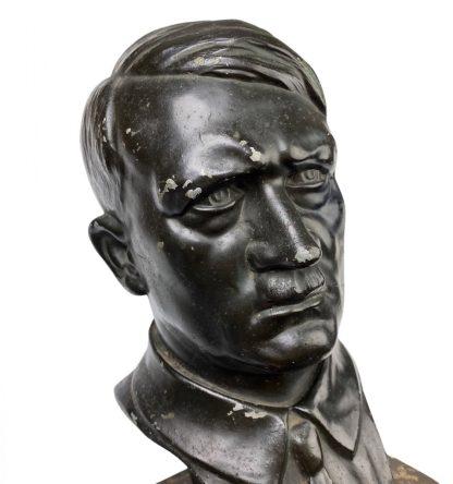 Original WWII German Adolf Hitler buste on marble