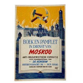 Original WWII Dutch NSB anti-bolshevism exhibition leaflet