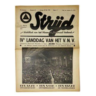 Original WWII Belgian VNV 'Strijd' newspaper