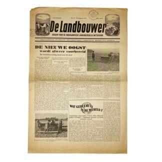 Original WWII Dutch collaboration 'De Landbouwer' newspaper