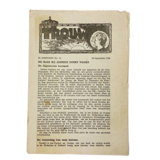 Original WWII Dutch resistance newspaper 'Battle of Arnhem'