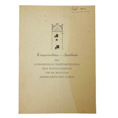 Original WWII German Waffen-SS war invalids booklet Niederlande