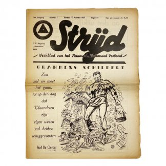 Original WWII Belgian VNV 'Strijd' newspaper