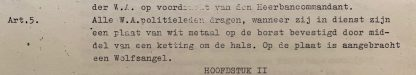 Information from NSB W.A. police documents about the Gorget