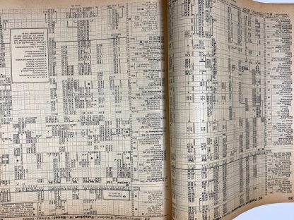 Original WWII German Reichsbahn Kursbuch mit Auslandteil
