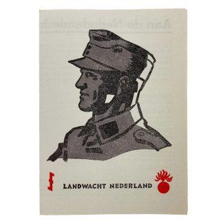 Original WWII Dutch 'Landwacht Nederland' flyer