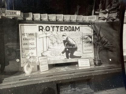 Original WWII Dutch NSB photo grouping Collect in Amsterdam for the victims of the bombing of Rotterdam