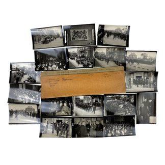 Original WWII Dutch NSB photo grouping Hoofddorp – Lijfwacht Mussert with SS Leistungsrune