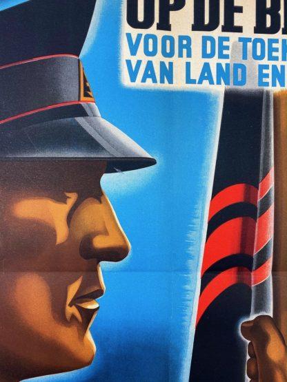 Original WWII Dutch NSB W.A. poster