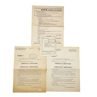 Original WWII Dutch N.S.K.K. Niederlande 'Gruppe Luftwaffe' document grouping