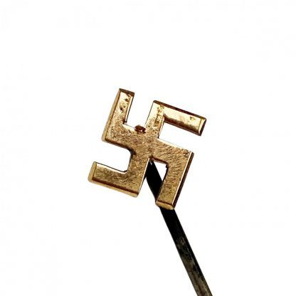 Original WWII German gold swastika pin