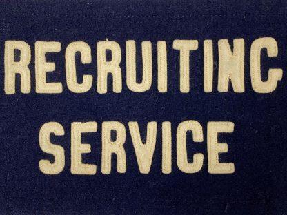 Original WWII US recruiting service armband